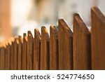 Wooden Fence Background.