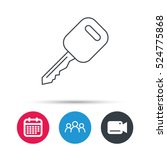 car key icon. transportat lock... | Shutterstock .eps vector #524775868