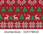 knitted christmas and new year... | Shutterstock .eps vector #524778010
