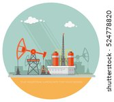 ecology concept   oil industry... | Shutterstock .eps vector #524778820