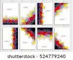 stock vector set brochures in...   Shutterstock .eps vector #524779240