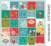 advent calendar. christmas... | Shutterstock .eps vector #524782660