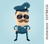 funny cop with sunglasses and... | Shutterstock .eps vector #524788126