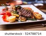 beef steak. sirloin steak.... | Shutterstock . vector #524788714