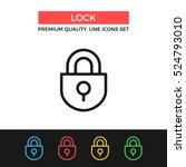 vector lock icon. protection ...   Shutterstock .eps vector #524793010