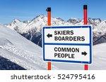 skiers and boarders versus... | Shutterstock . vector #524795416