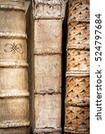 books with leather covers in a... | Shutterstock . vector #524797684