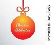 silhouette of a christmas ball... | Shutterstock .eps vector #524798038