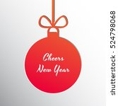 silhouette of a christmas ball... | Shutterstock .eps vector #524798068