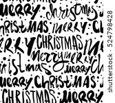 seamless merry christmas... | Shutterstock .eps vector #524798428