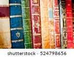 old books row background.... | Shutterstock . vector #524798656