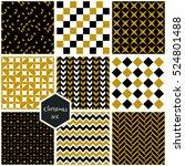 set. seamless geometric... | Shutterstock .eps vector #524801488