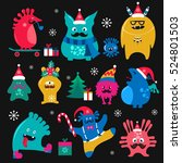 Cute Winter Holidays Monsters...