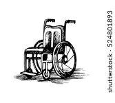 wheelchair isolated on white... | Shutterstock .eps vector #524801893