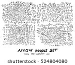 vector hand drawn arrows set | Shutterstock .eps vector #524804080