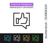 vector positive feedback icon.... | Shutterstock .eps vector #524806324