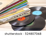 Vinyl Record In Front Of A...