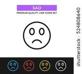 vector sad emoticon icon. sad...
