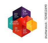 infographic modern templates  ... | Shutterstock .eps vector #524812690