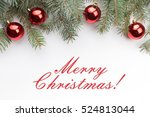 christmas decoration background ... | Shutterstock . vector #524813044