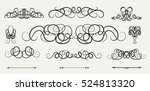 vintage decor elements and... | Shutterstock .eps vector #524813320