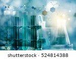 laboratory test tube glass... | Shutterstock . vector #524814388