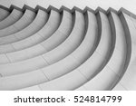 curvilinear stairs. top view of ... | Shutterstock . vector #524814799