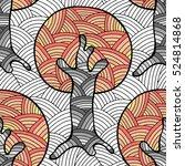 seamless pattern  vector hand... | Shutterstock .eps vector #524814868