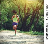 young fitness woman trail... | Shutterstock . vector #524817400