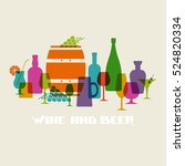 color alcohol drinks icon. food ... | Shutterstock . vector #524820334