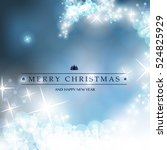 blue and white happy holidays ... | Shutterstock .eps vector #524825929