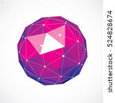 vector dimensional wireframe... | Shutterstock .eps vector #524828674