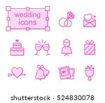 thin line icons set  linear... | Shutterstock .eps vector #524830078