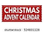 christmas advent calendar... | Shutterstock .eps vector #524831128