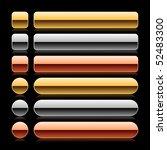 luxury metal empty web button... | Shutterstock .eps vector #52483300