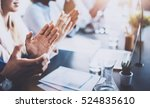 close up view of business... | Shutterstock . vector #524835610