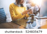 young team of coworkers using... | Shutterstock . vector #524835679