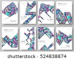 abstract vector brochure cards... | Shutterstock .eps vector #524838874