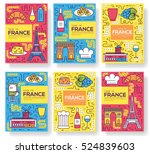 France Vector Brochure Cards...