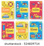 coast guard vector brochure... | Shutterstock .eps vector #524839714