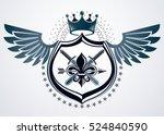 vector retro insignia design... | Shutterstock .eps vector #524840590