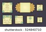 vintage wedding invitation... | Shutterstock .eps vector #524840710