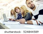 group of young international... | Shutterstock . vector #524844589
