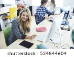 young skilled pupil of software ... | Shutterstock . vector #524844604