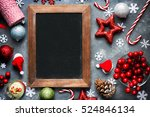 christmas xmas new year holiday ... | Shutterstock . vector #524846134