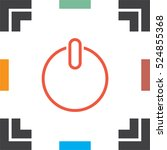 power button line vector icon....