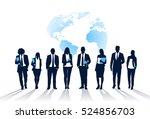 business people team crowd walk ... | Shutterstock .eps vector #524856703