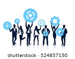 business people team hold... | Shutterstock .eps vector #524857150