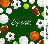 sports poster of vector soccer  ... | Shutterstock .eps vector #524857588