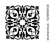 vintage square ornament for... | Shutterstock .eps vector #524858518